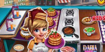 Maisto restoranų aptarnavimas žaidimas vaikams Virtuvės šefė 3 dalis.