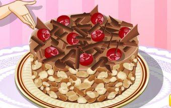 Kaip pagaminti puikų skanėstą - Vyšnių pyragą, žaidimas mergaitėms