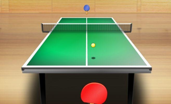 Žaidimas Zombių tenisas. Tai stalo tenisas internetu, tik tavo priešininkas zombis.