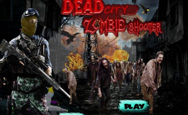 Šaudymo ir misijų žaidimas zombių miestas.