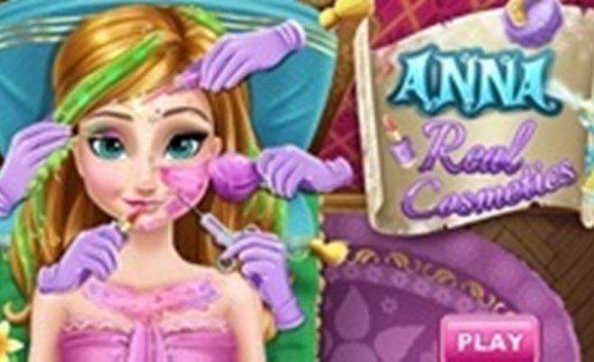 Anos grožio salonas, mergaičių žaidimas, kuriame reikia išgydyti mergaitę.