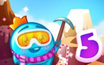 Saldainių žemė - Žaidimas panašus į Candy Crush žaidimą. Sunaikink saldainius internete ar savo telefone.