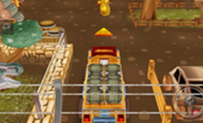 Mašinų parkavimo žaidimas - Pastatyk sunkvežimį į vietą.