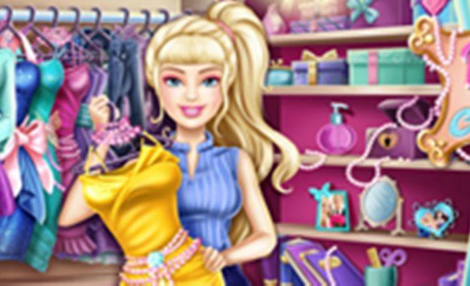 Barbės drabužiai, surask daiktus - linksmas žaidimas skirtas mergaitėms.