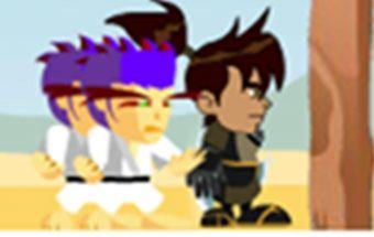 Nindzės BEN10 žaidimas su nindzėmis, veiksmas online.