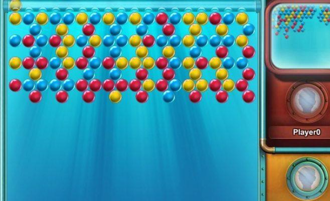 Burbuliukai online - žaidimas prieš parinktą priešininką online.