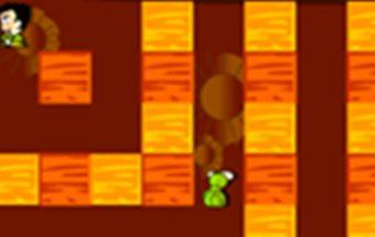 Bomberman serijos žaidimas dviems žaidėjams.