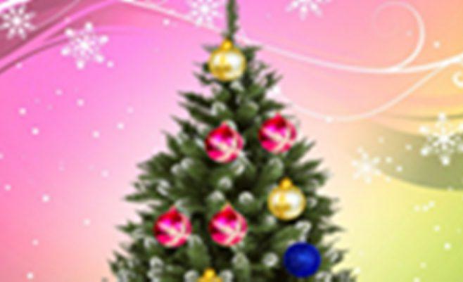 Šventų Kalėdų žaidimas papuošk Kalėdinę eglutę.