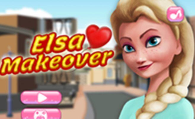 Mergaitės Elsos makiažas ir grožio darymo procedūra. Princesė Elsa eina į ledo karalystę.