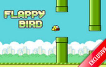 """""""Flappy Bird"""" paukščio skrydis, panašus į Super Mario."""