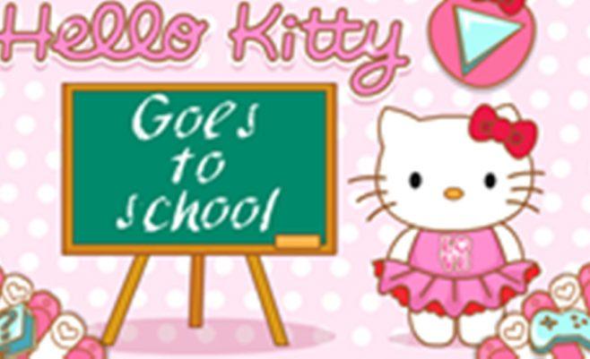 Hello Kitty mokykloje, padėk kačiukui - mergaičių žaidimas, kuriame reikalinga tavo pagalba.