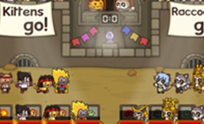 Strateginis ir loginis žaidimas su kovos elementais - Katinų lyga.