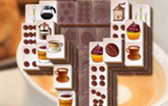 Loginis paveikslėlių žaidimas - Kavos mahjong kaladėlės.