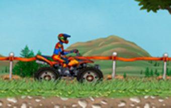 Populiarus keturračių vairavimo žaidimas tinkantis vaikams.