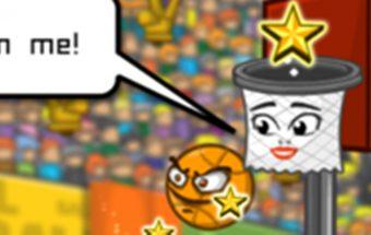 Online krepšinio žaidimas. Žaiskite krepšinį, pataikyk kamuolį į krepšį.