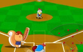 Beisbolo žaidimas dideliems ir mažiems, kur reikia numušti kamuoliuką.