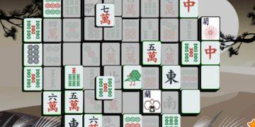 Loginis žaidimas mahjong saulėlydis.