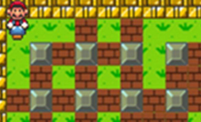 Super Mario žaidimas apie Mario bombas.