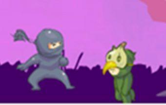 Žaidimas apie mažąjį nindzę kuris yra tikras nindzė kovotojas.