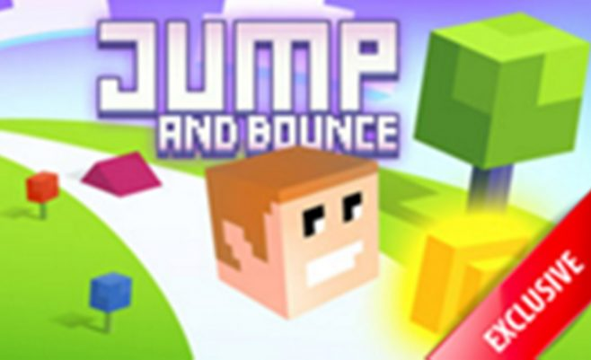 Minecraft kvadratėliai - žaidimas su Minecraft grafika ir kvadratai, kurie turi peršokti kliūtis.