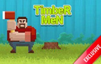 Medkirtys iš Minecraft laidos. Minecraft herojus kerta medį.