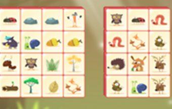 Paveiksliukai iš Mahjong žaidimų serijos. Mahjong gyvūnai sunaikink kaladėles.
