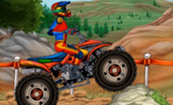 Motociklo išbandymas, vairavimo žaidimas skirtas visiems.