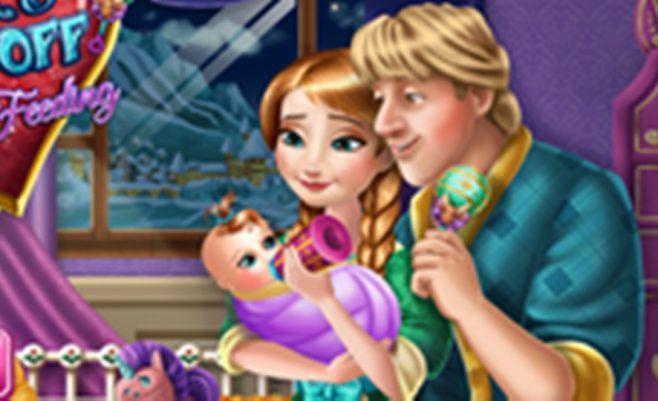 Padėk Anai pasirūpinti vaikeliu - mielas žaidimas skirtas mergaitėms.