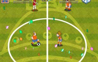 Pasaulio futbolas prilygstam tikram futbolo žaidimui. Tikslas: įspirti kamuolį į priešininko vartus.