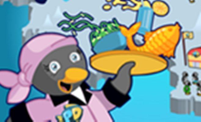 Šis pingvinas tikras šaunuolis, nes turi labai gražią kavinę. Padėkite Jam aptarnauti visus klientus,