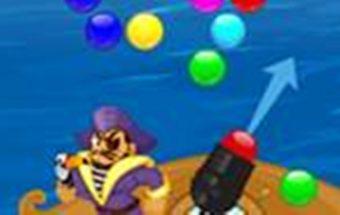 Žaidimas apie piratų burbuliukus ir jų šaudymą