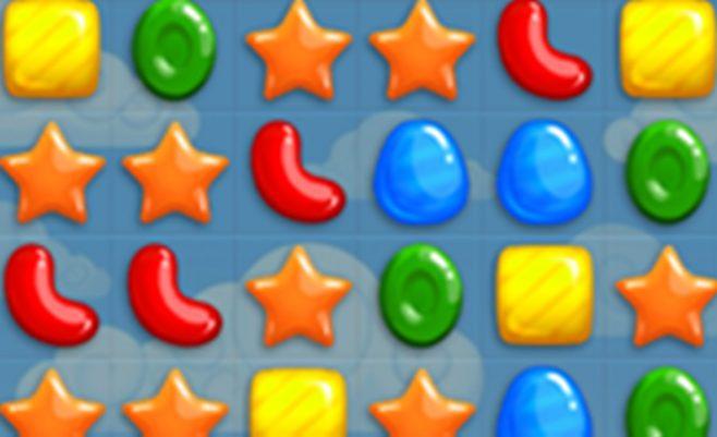 Loginis žaidimas apie Saldainių lietų - Sujunk tris saldainius.