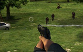Šaudymas iš pistoleto. Šaudyklinis žaidimas.