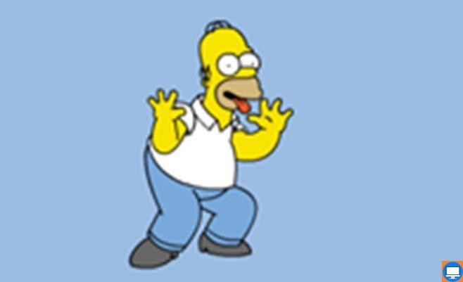 Simpsonų šeimos emocijos. Simpsonas rodo savo emocijas kai jį sunervina.