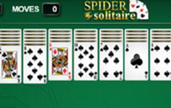 Klasikinis Spider Solitaire žaidimas.