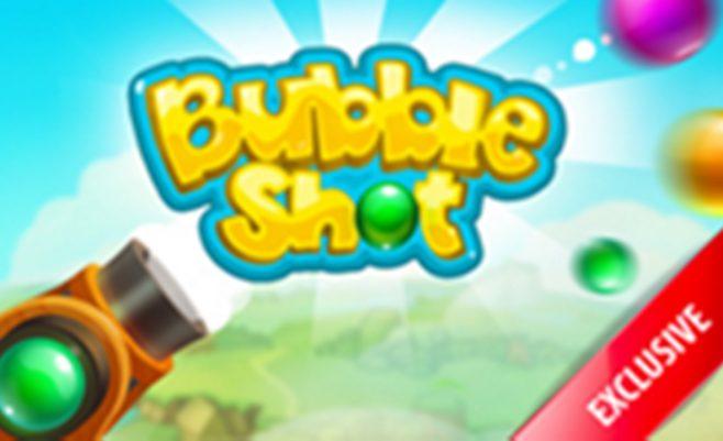 Burbulų šaudyklė kur reikia taikytis į burbuliukus.