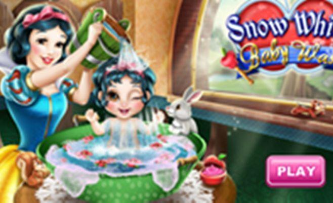 Nuprausk Snieguolės vaikelį - tai mielas mergaičių žaidimas.