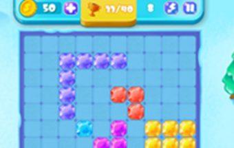 Loginis Tetris žaidimas. Tetris kuriame reikia sudėti teisingą Tetrio kombinaciją.
