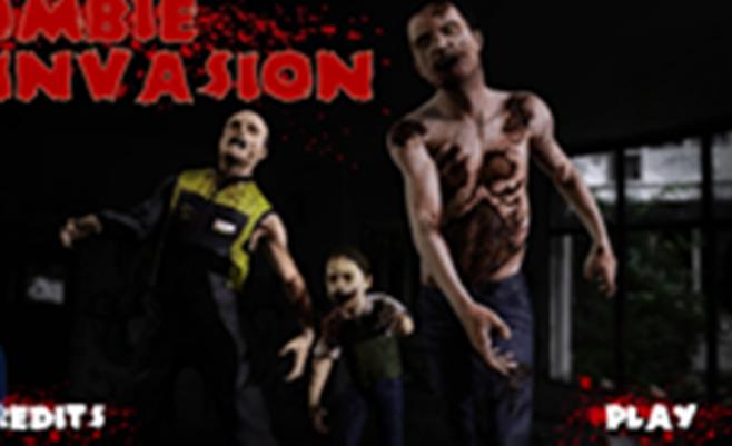 Zombių invazija: zombiai puola žemes o Jums reikia apsiginti ir šaudyti į zombius.