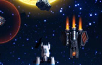 Veiksmas su Žvaigždžių karų erdvėlaiviais. Šaudymas kosmose į priešus.